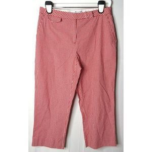 Tommy Hilfiger Checkered Gingham Cropped Pants 10